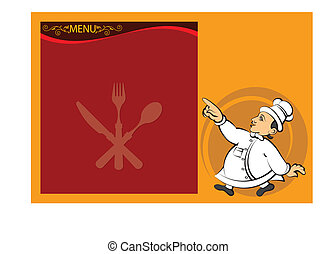 Chef Menu Card Design Template