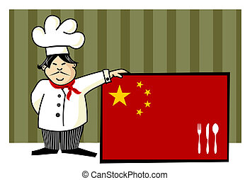 Chef of chinese cuisine