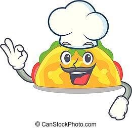 Chef omelatte is fried on character teflon vector ...