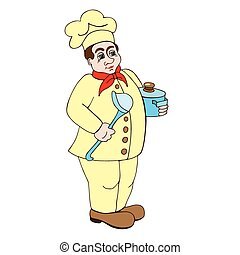 chef on a white background