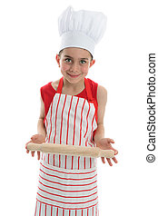 Chef or Cook - Chef or cook holding a kitchen utensil and...