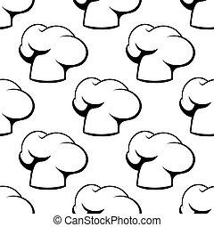 chef, patrón, toques, contorno, seamless