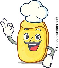 Chef potato chips character cartoon