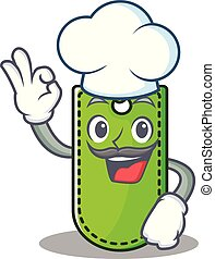 Chef price tag character cartoon
