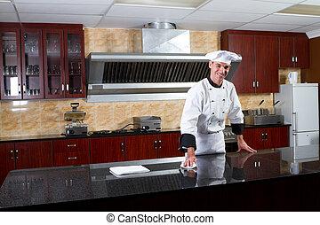 chef, professionale, maschio