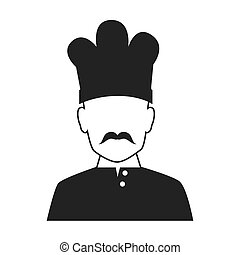 Chef profile avatar icon vector illustration