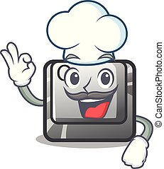 Chef Q button on the cartoon keyboard