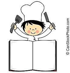 chef, ragazzo, poco