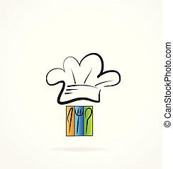Chef restaurant cook logo vector