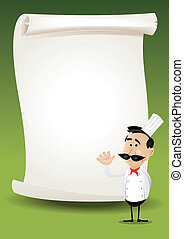 Chef Restaurant Poster Menu Background - Illustration of a ...