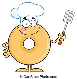 Chef, Rosquilla, carácter, caricatura