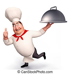CHEF RUNNING WITH POT