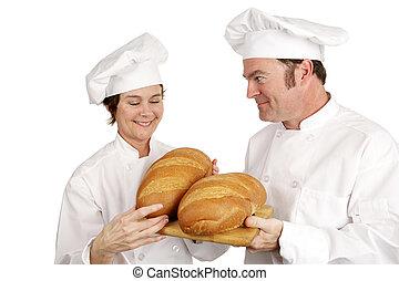 Chef School - Teachers Approval - Mature female chef...