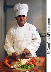 chef, se cortar verduras, 2