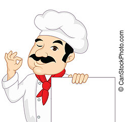 chef, segno bianco