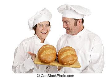 chef, serie, -, panaderos