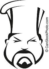 chef, serio, competente
