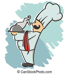 chef serving the dish