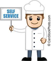 Chef Showing Self Service Board