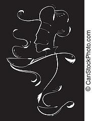 Chef sign - Vector illustration