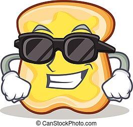 Chef slice bread cartoon character vector art illustration