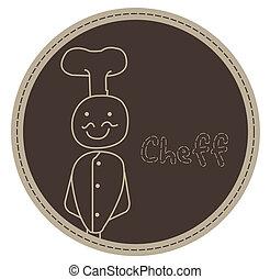 chef smile vector