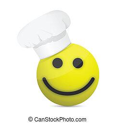 chef smiling. Illustration design