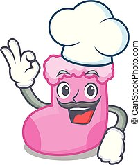 Chef sock character cartoon style