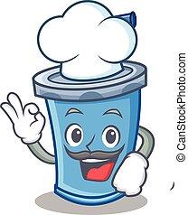 Chef soda drink character cartoon