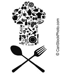 chef symbol with spoon and knife