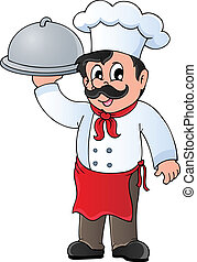 Chef theme image 4 - vector illustration.