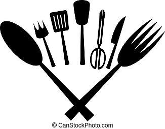 chef, utensili cucina