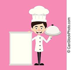 Chef Vector Illustration Design - menu