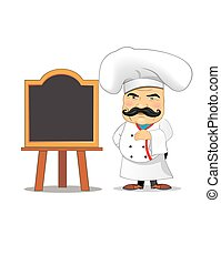 Chef vector illustration for animation, games, different poses, kitchen