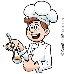Chef - Vector illustration of Cartoon chef