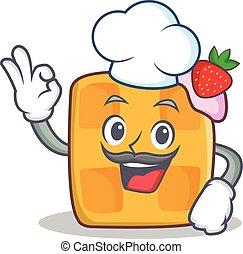 Chef waffle character cartoon design