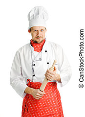 Chef with a rolling-pin
