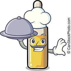 Chef with food ampoule mascot cartoon style vector...