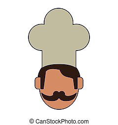 Chef with mustache faceless avatar