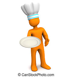 Chef With Plate