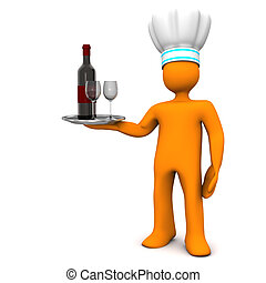 Chef With Red Wine