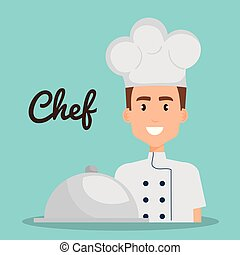 chef with tray avatar