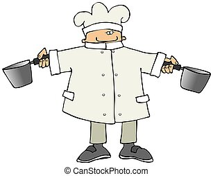 Chef With Two Pots