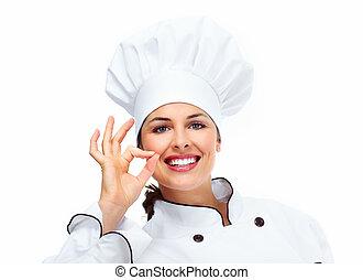 chef, woman.