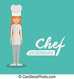 chef woman design