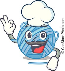 Chef wool balls isolated on a mascot