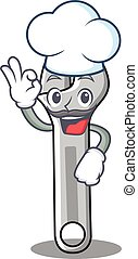 Chef wrench character cartoon style