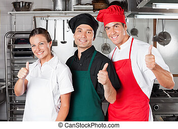 Chefs Giving Thumbs Up
