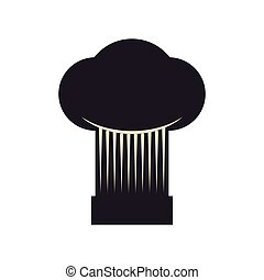 chefs hat icon. Bakery supply design. Vector graphic