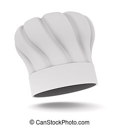 Chefs hat on white background. Isolated 3D illustration